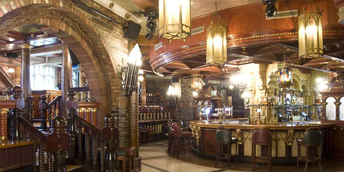 Interior view of Benedicts Bar one of the Best Bars in Belfast